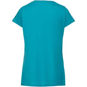 VAUDE Gleann V Shirt Women cyan